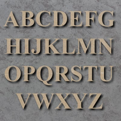 Times New Roman Bold Font Single Mdf Wooden Letters PRICE PER LETTER