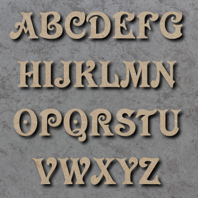 Victorian Font Single Wooden Letters