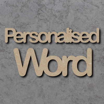 Arial Rounded Font Joined Personalised Craft Words **PRICE PER LETTER**
