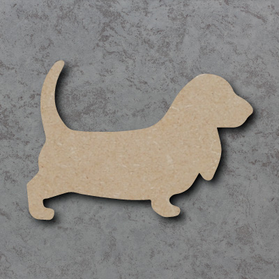 Dog 20 - (Basset Hound) Craft Shapes