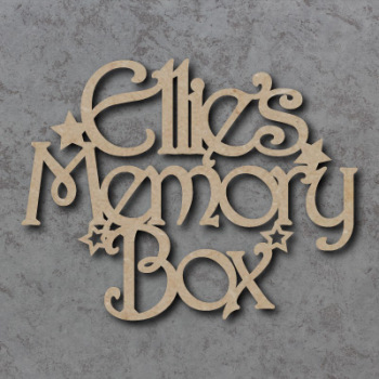 Personalised Memory Box Sign
