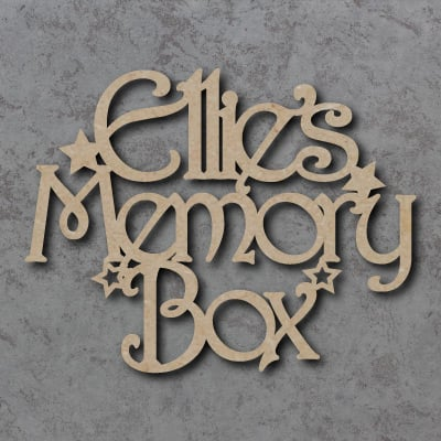 Personalised Memory Box Topper Sign