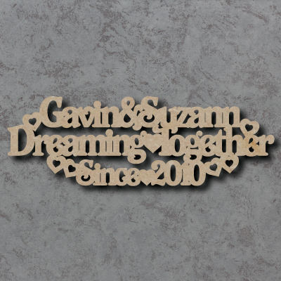Personalised Dreaming Together Since Craft Sign