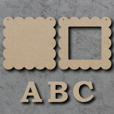 Letter Frame 01 - Scalloped Edges Craft Shapes