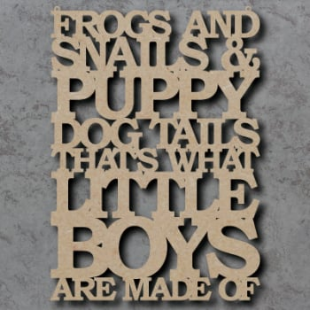 Frogs and Snails Sign