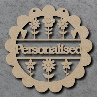 Personalised Flower Sign