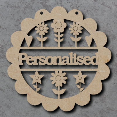Personalised Flower Craft Sign
