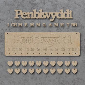 Penblwyddi (Birthdays) Sign