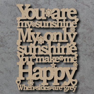 You Are My Sunshine Craft Sign