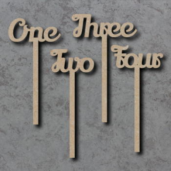 Wedding Table Number Sticks