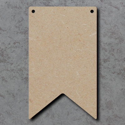 Flag Bunting - V Tail mdf Craft Shapes