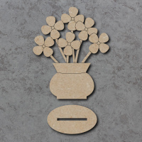Freestanding Vase and Flowers Craft Shapes