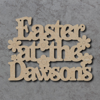 Easter at the 'Your Name' Craft Sign (Belshaw Font)