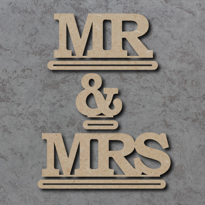 Mr & Mrs Freestanding Craft Sign