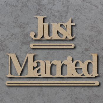 Just Married Freestanding Craft Sign
