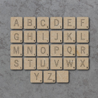 Board Game Letters Detailed Craft Shapes