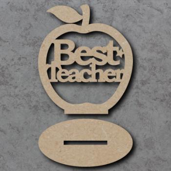 Freestanding Best Teacher Apple Craft Shapes