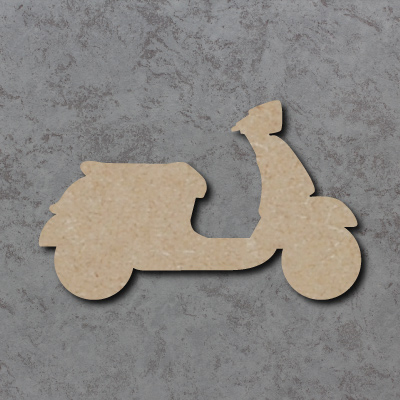Vespa Moped Craft Shapes