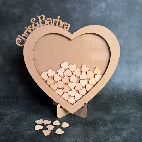 Wedding Drop Box - Personalised Heart