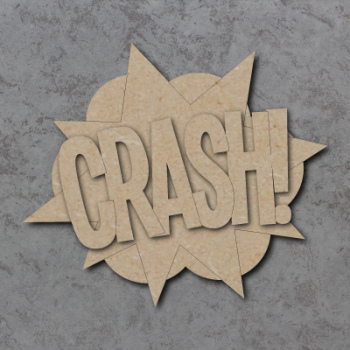 Comic Book Crash! Sign