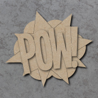 Comic Book Pow! Sign