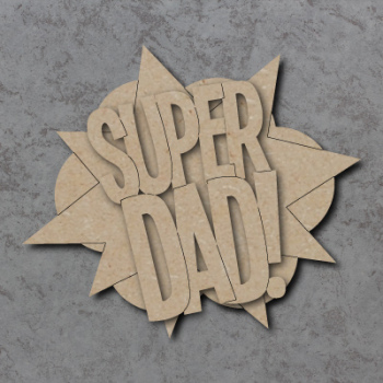Super Dad Comic Book Sign