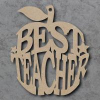 Best Teacher Word Apple Craft Shapes