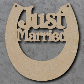 Horse Shoe (Just Married) Detailed Craft Shapes