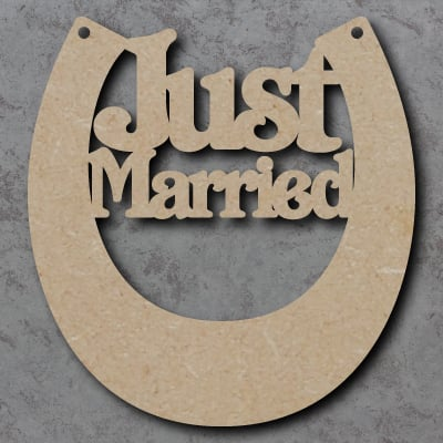 Horse Shoe Just Married Craft Shapes