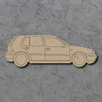 VW Golf MK4 Car Detailed Craft Shapes