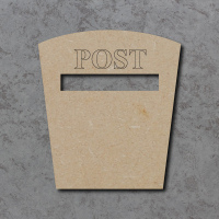 Post Box B Blank Craft Shapes