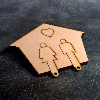 Couples Key Hanger Craft Kit