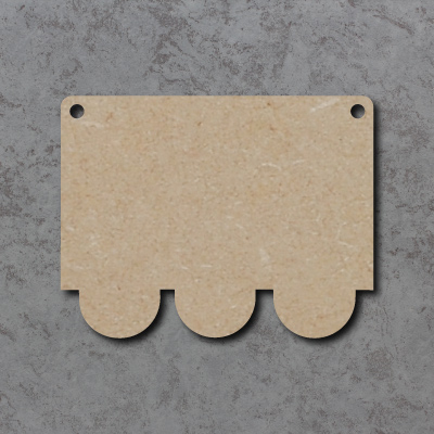 Train Carriage Bunting mdf Shapes