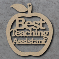 Best Teaching Assistant Apple Craft Shapes
