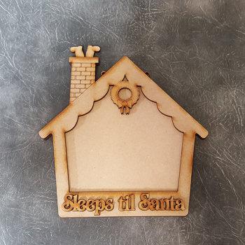 Sleeps til Santa House Chalkboard Sign