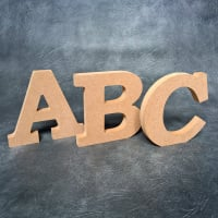 Freestanding Wooden Letters (Bookman font) 18mm Thick