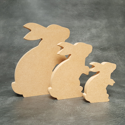 Free standing Rabbit Craft Shapes 18mm Thick