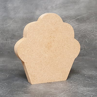 Cupcake 18mm Thick Craft Shapes