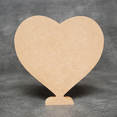 Heart Standing 18mm Thick Craft Shapes