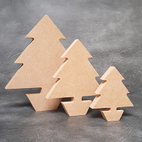 Christmas Tree Craft Shapes 18mm Thick