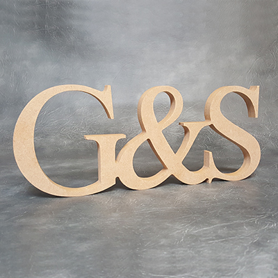 Personalised Joined Initial & Initial Sign 18mm Thick Craft Shapes