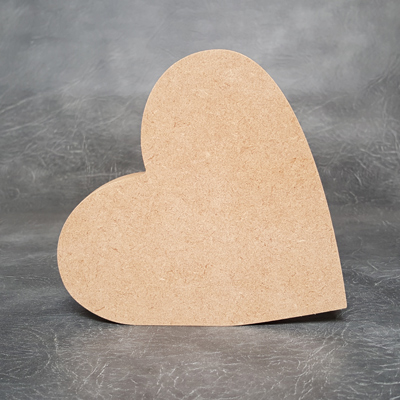 Heart Leaning 18mm Thick Craft Shapes