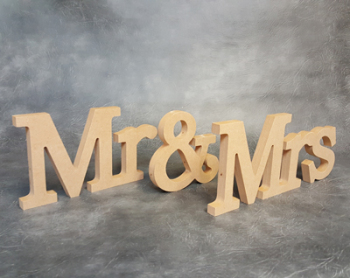 Mr & Mrs Freestanding Signs 18mm Thick