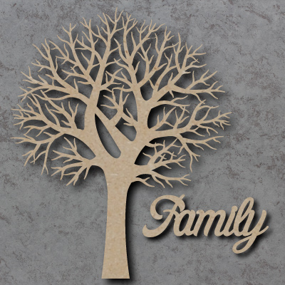 Family Tree Wooden Craft Shapes
