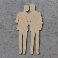Wedding Couple B (Male) Blank Craft Shapes