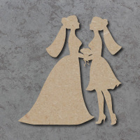 Wedding Couple C (Female) Blank Craft Shapes