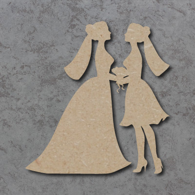 Wedding Couple C (Female) Craft Shapes