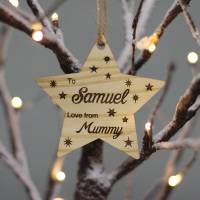 Personalised Star Gift Tags - To, From Script