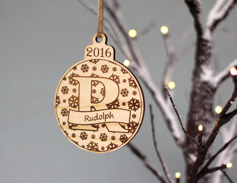 Personalised Bauble Letter Names