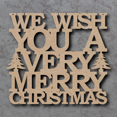 We Wish You A Merry Christmas Craft Sign
